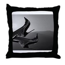 Stiletto Boots and Sunset Throw Pillow