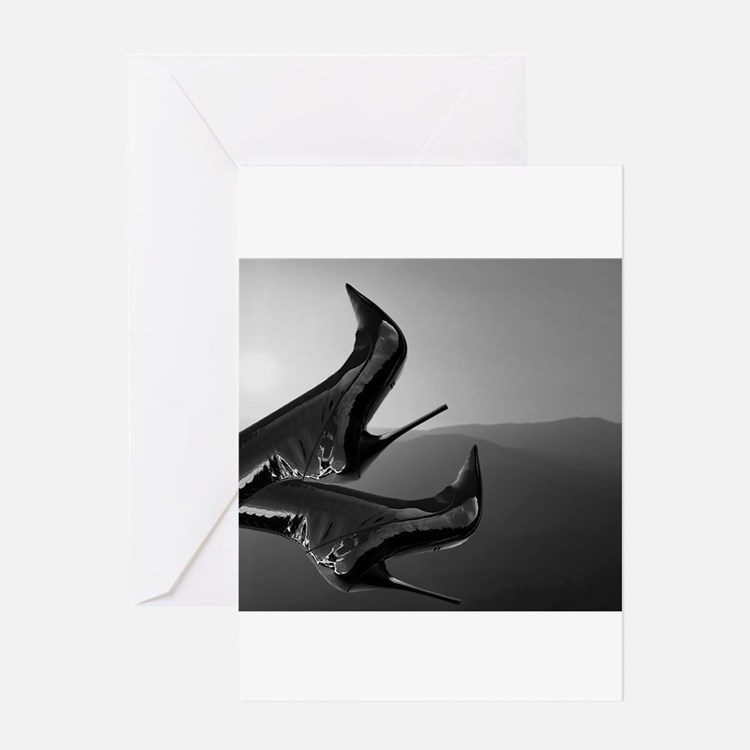 Stiletto Boots and Sunset Greeting Card