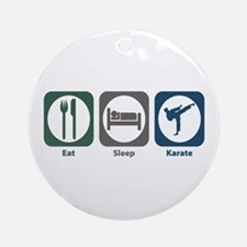 Eat Sleep Karate Ornament (Round)