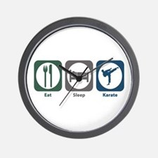 Eat Sleep Karate Wall Clock