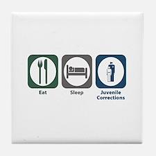 Eat Sleep Juvenile Corrections Tile Coaster