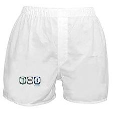 Eat Sleep Juvenile Corrections Boxer Shorts