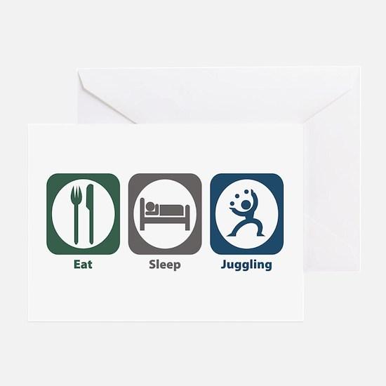 Eat Sleep Juggling Greeting Card