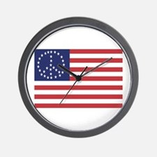 Peace Flag Wall Clock