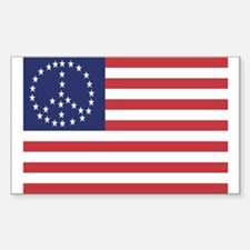Peace Flag Rectangle Decal