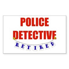 Retired Police Detective Rectangle Decal