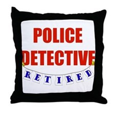 Retired Police Detective Throw Pillow