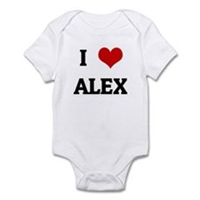 I Love ALEX Infant Bodysuit