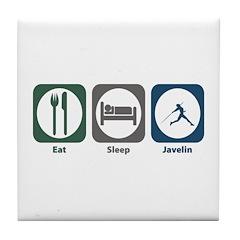 Eat Sleep Javelin Tile Coaster
