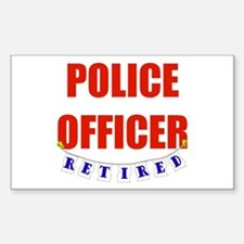 Retired Police Officer Rectangle Decal