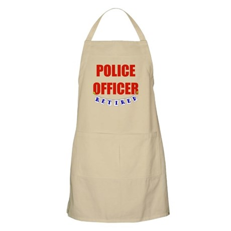 Retired Police Officer BBQ Apron