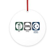 Eat Sleep Islamic Studies Ornament (Round)