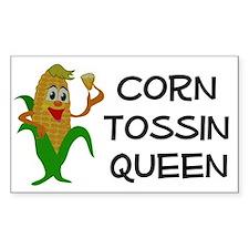 Corn Tossin Queen Rectangle Decal