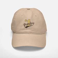 #1 Grandpa Baseball Baseball Cap