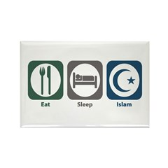 Eat Sleep Islam Rectangle Magnet (100 pack)