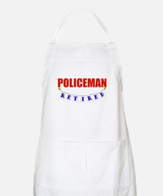 Retired Policeman BBQ Apron