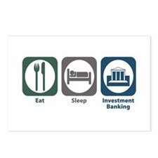 Eat Sleep Investment Banking Postcards (Package of