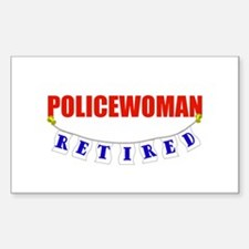 Retired Policewoman Rectangle Decal
