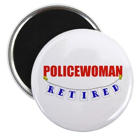 "Retired Policewoman 2.25"" Magnet (100 pack)"