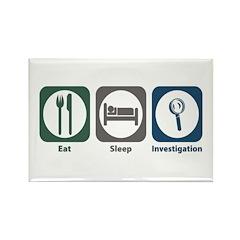 Eat Sleep Investigation Rectangle Magnet (100 pack