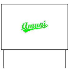 Retro Amani (Green) Yard Sign