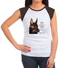 Versatile Beauceron Women's Cap Sleeve T-Shirt
