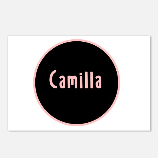 Camilla - Pink Circle Postcards (Package of 8)