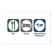 Eat Sleep International Relations Postcards (Packa