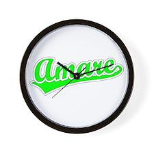 Retro Amare (Green) Wall Clock