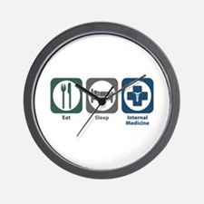 Eat Sleep Internal Medicine Wall Clock