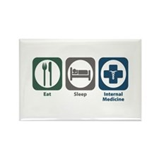 Eat Sleep Internal Medicine Rectangle Magnet