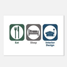 Eat Sleep Interior Design Postcards (Package of 8)