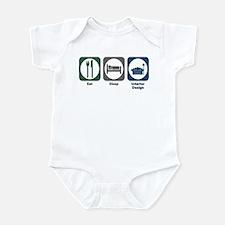Eat Sleep Interior Design Infant Bodysuit