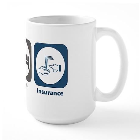 Eat Sleep Insurance Large Mug