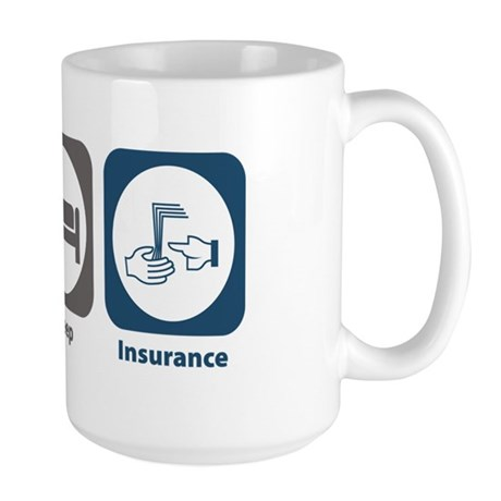 Eat Sleep Insurance Large Mug