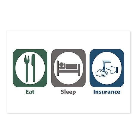 Eat Sleep Insurance Postcards (Package of 8)