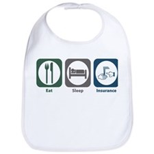 Eat Sleep Insurance Bib