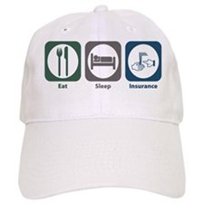 Eat Sleep Insurance Baseball Baseball Cap