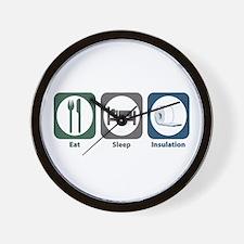 Eat Sleep Insulation Wall Clock