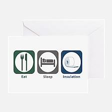 Eat Sleep Insulation Greeting Card