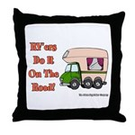 RV'ers Do It On The Road Throw Pillow