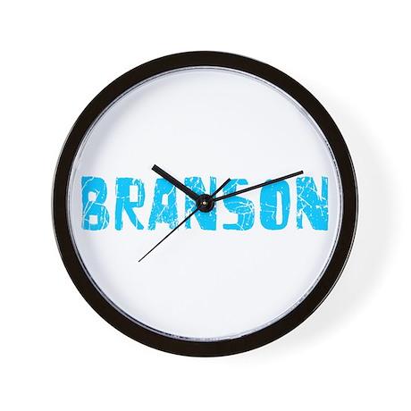 Branson Faded (Blue) Wall Clock