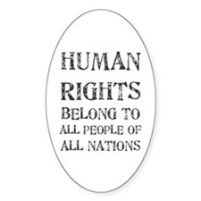 Human Rights Oval Decal