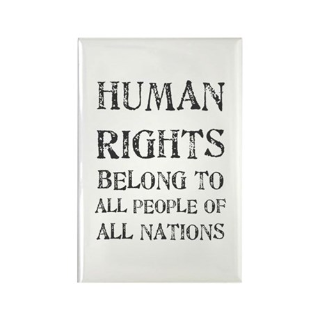Human Rights Rectangle Magnet