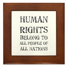 Human Rights Framed Tile