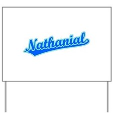Retro Nathanial (Blue) Yard Sign