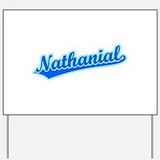 Retro Nathanial (Blue) Yard Sign