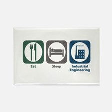 Eat Sleep Industrial Engineering Rectangle Magnet