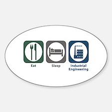 Eat Sleep Industrial Engineering Oval Decal