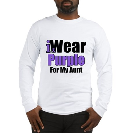 I Wear Purple For My Aunt Long Sleeve T-Shirt